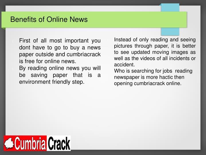 Benefits of Online News