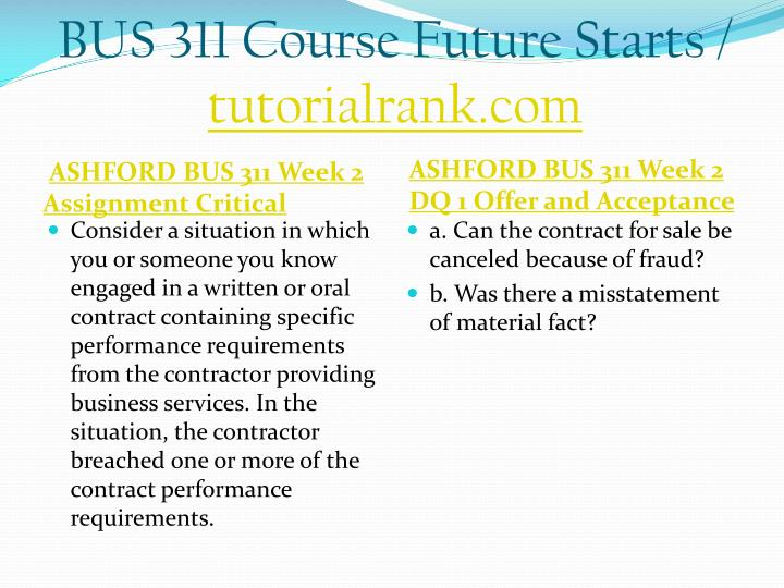 Bus 311 course future starts tutorialrank com2