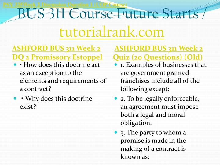 PSY 325Week 2 Discussion Question 1 (UOP Course)