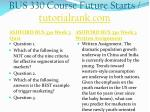 bus 330 course future starts tutorialrank com7