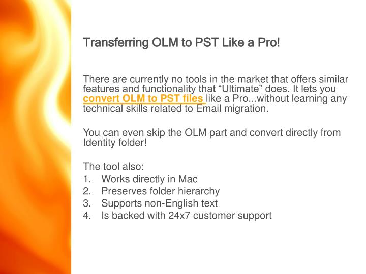 Transferring OLM to PST Like a Pro!
