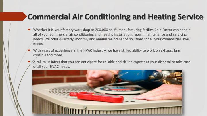 Commercial air conditioning and heating service