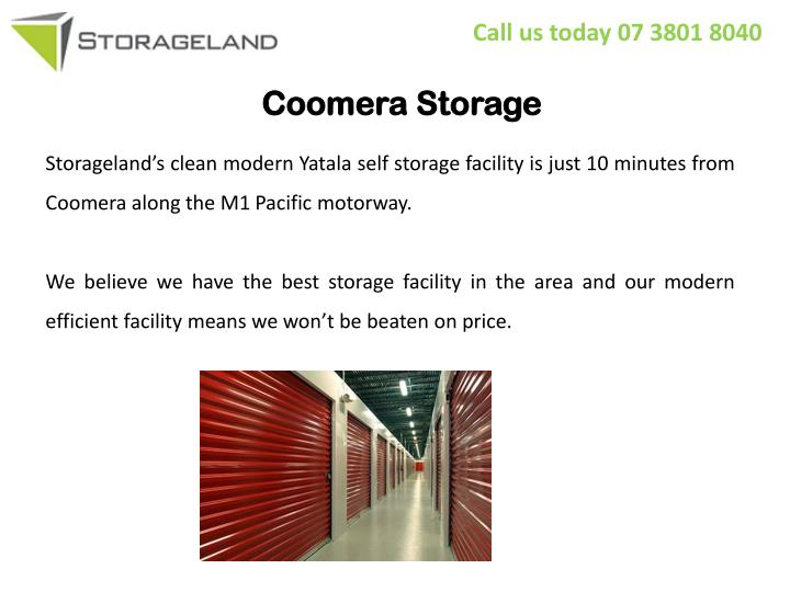 Coomera storage