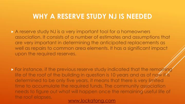 Why a reserve study nj is needed1