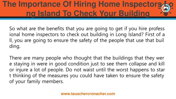 The importance of hiring home inspectors long island to check your building1