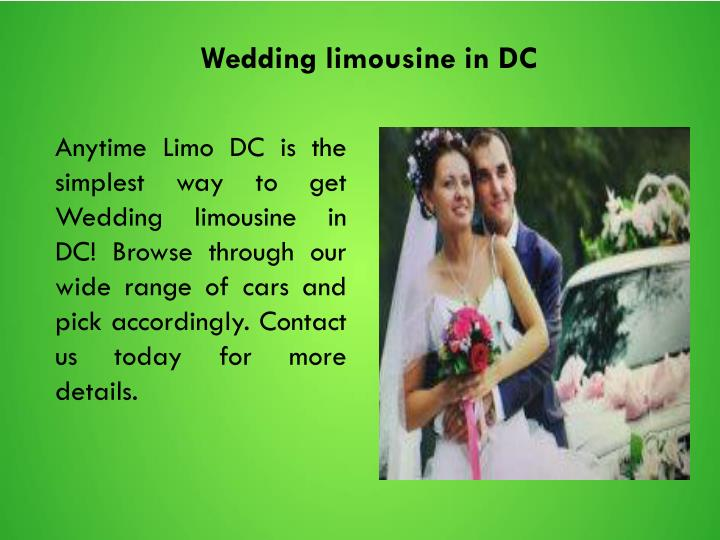 Wedding limousine in DC
