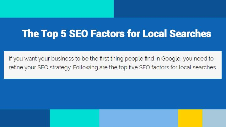 The top 5 seo factors for local searches1