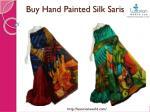 buy hand painted silk saris