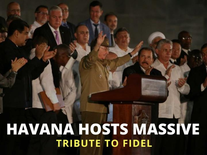 Havana has huge tribute to fidel