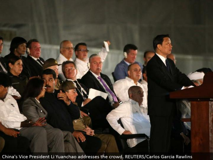 China's Vice President Li Yuanchao addresses the group. REUTERS/Carlos Garcia Rawlins