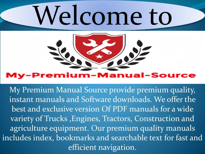 PPT - Komatsu service manual PowerPoint Presentation - ID