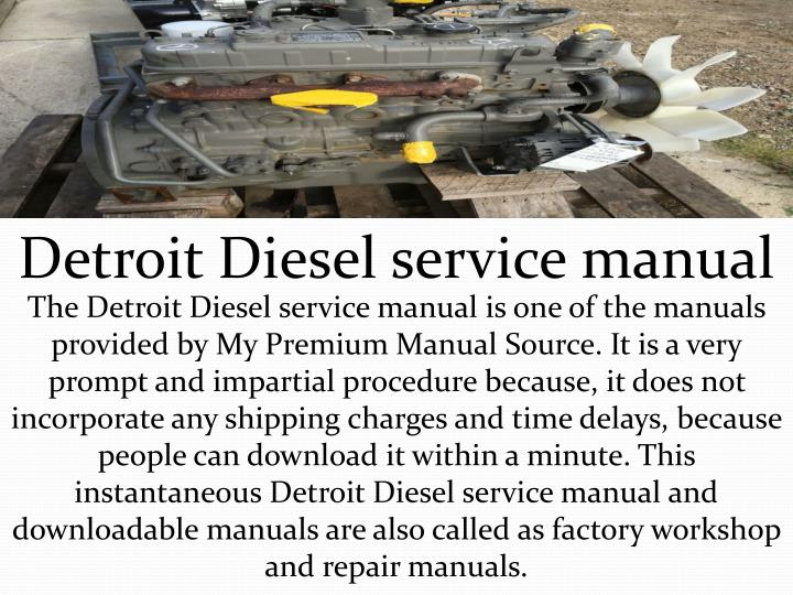 Detroit Diesel service manual