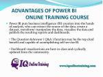 advantages of power bi online training course