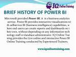 brief history of power bi