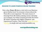 reasons to learn power bi online training