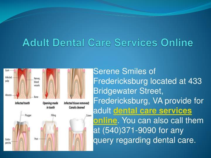 Adult Dental Care Services Online