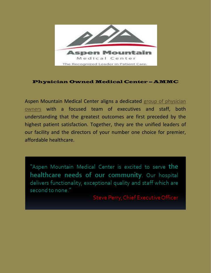 Physician Owned Medical Center