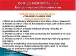 com 295 mentor possible everything com295mentor com13
