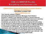 com 295 mentor possible everything com295mentor com16