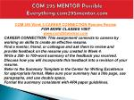 com 295 mentor possible everything com295mentor com22