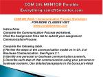 com 295 mentor possible everything com295mentor com4