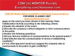 com 295 mentor possible everything com295mentor com9
