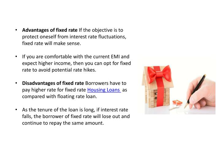 Advantages of fixed rate