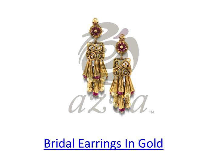 Bridal Earrings In Gold