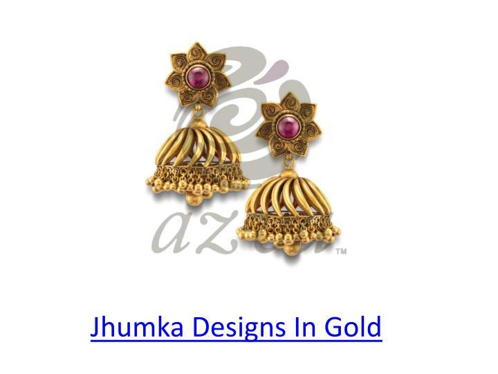 Jhumka Designs In Gold