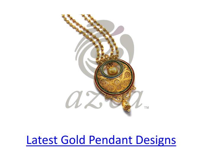 Latest Gold Pendant Designs