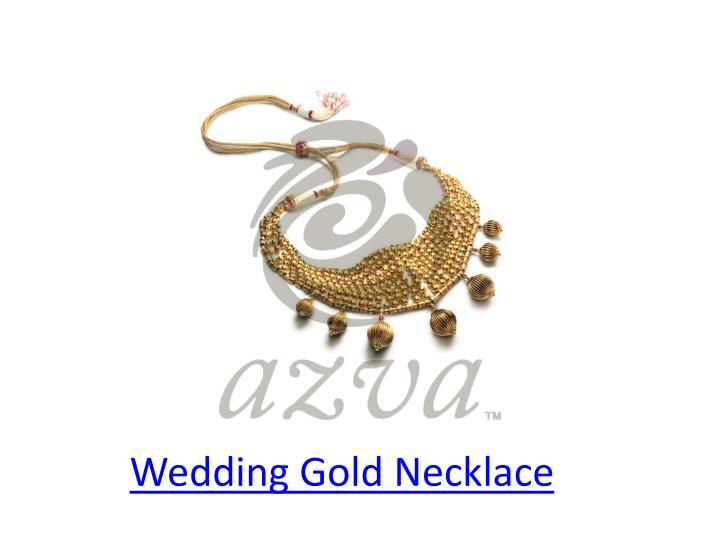 Wedding gold necklace