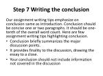 step 7 writing the conclusion