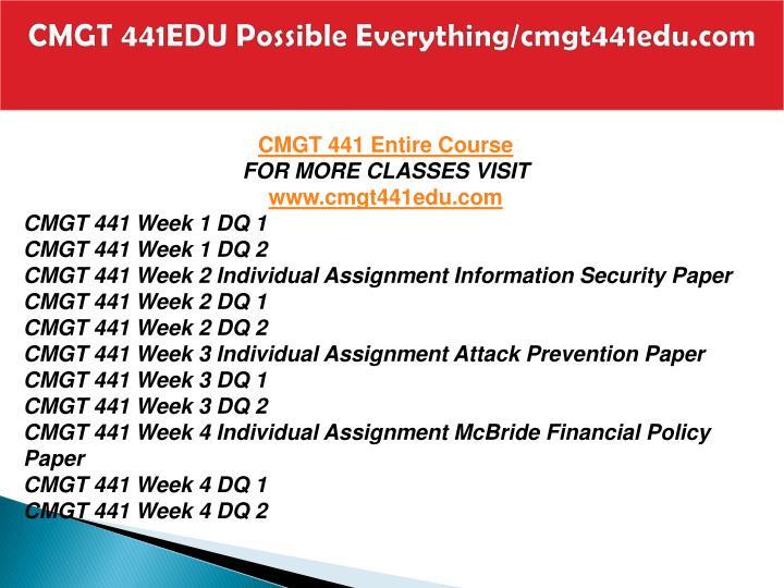 Cmgt 441edu possible everything cmgt441edu com1
