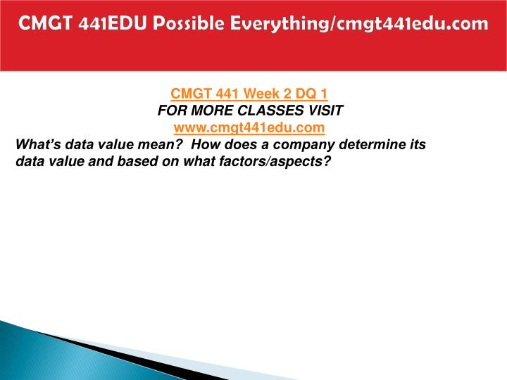 CMGT 441EDU Possible Everything/cmgt441edu.com