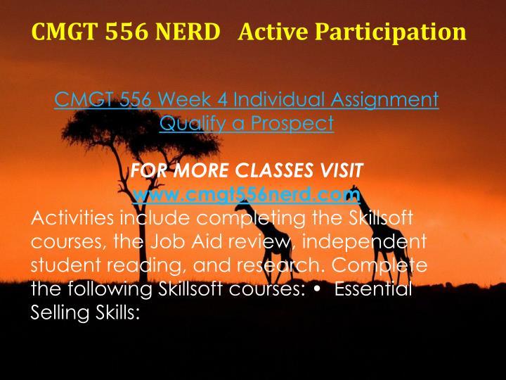 CMGT 556 NERD