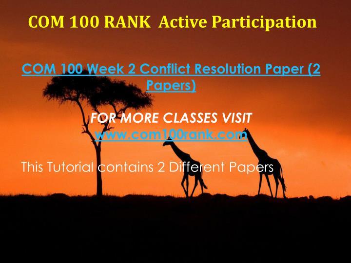 COM 100 RANK