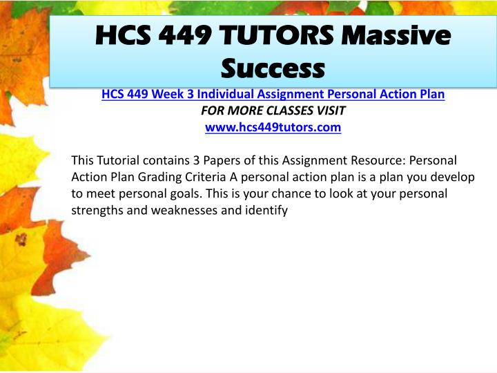 HCS 449 TUTORS Massive Success