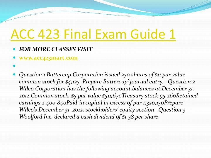 Acc 423 final exam guide 1
