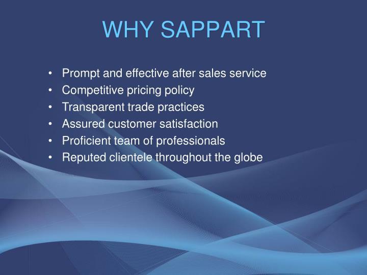 WHY SAPPART