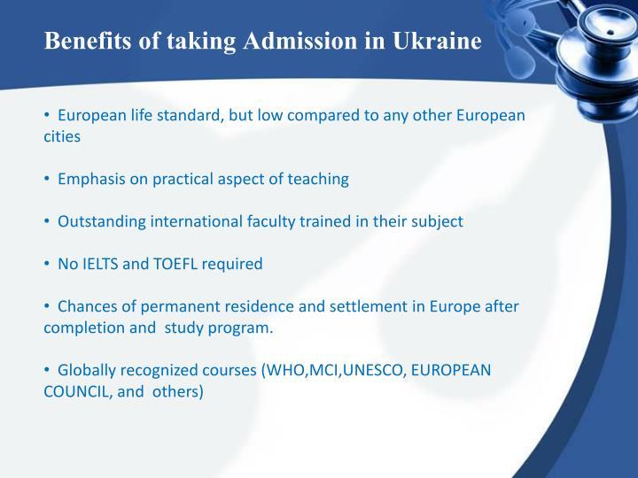 Benefits of taking Admission in Ukraine