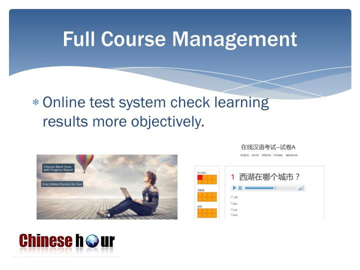 Full Course Management