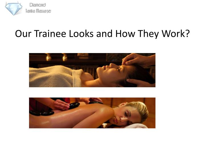 Our trainee looks and how they work