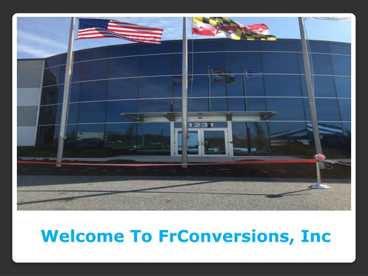 Welcome To FrConversions, Inc