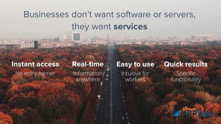 Businesses don't want software