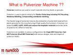what is pulverizer machine