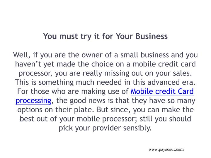You must try it for Your Business