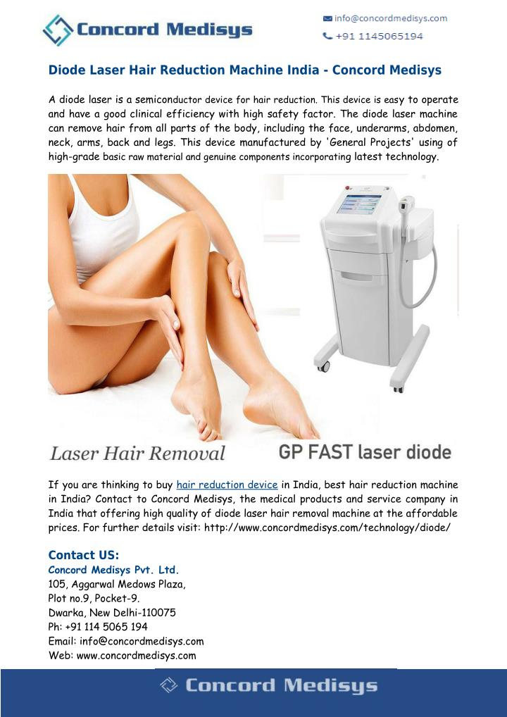 Diode Laser Hair Reduction Machine India - Concord Medisys
