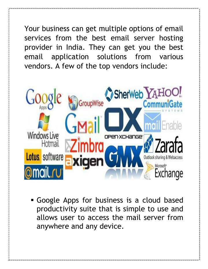 Your business can get multiple options of email