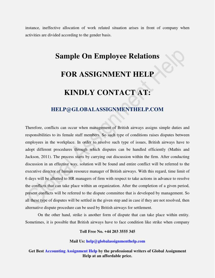 instance, ineffective allocation of work related situation arises in front of company when
