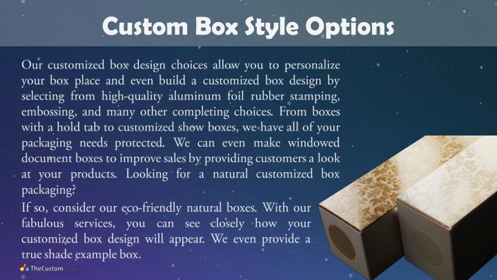 Custom Box Style Options